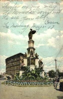 Soldiers Monument - Detroit, Michigan MI Postcard