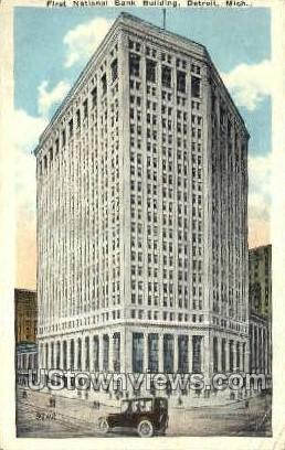 First National Bank - Detroit, Michigan MI Postcard