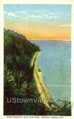 North Blvd., Arch Rock - Mackinac Island, Michigan MI Postcard