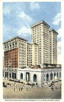 Peoples State Bank - Detroit, Michigan MI Postcard