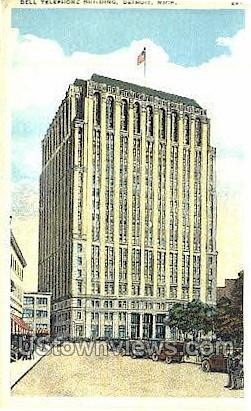 Bell Telephone Bldg - Detroit, Michigan MI Postcard