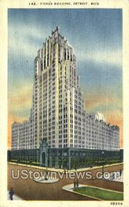 Fisher Bldg - Detroit, Michigan MI Postcard