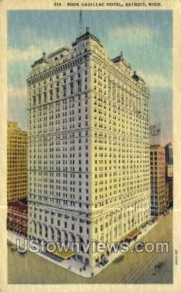 Book Cadillac Hotel - Detroit, Michigan MI Postcard