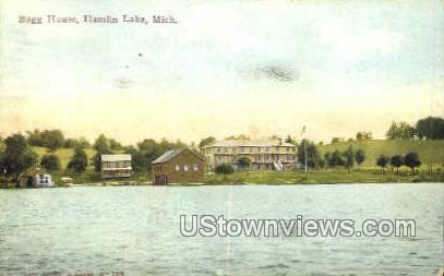 Bugg Home - Hamlin Lake, Michigan MI Postcard