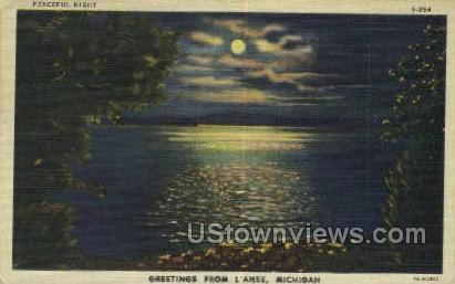L'Anse, Michigan, MI, Postcard