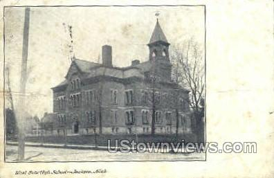 West Side High School - Jackson, Michigan MI Postcard