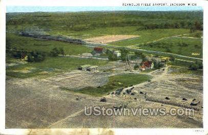 Reynolds Field Airport - Jackson, Michigan MI Postcard