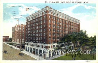Consumers Power Bldg - Jackson, Michigan MI Postcard