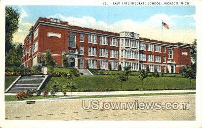 East Intermediate School - Jackson, Michigan MI Postcard