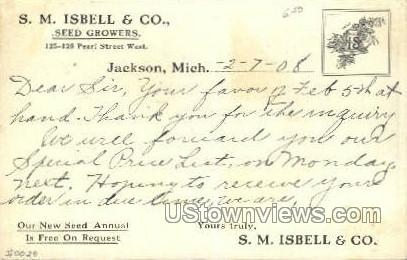 S.M. Isbell & Co. - Jackson, Michigan MI Postcard