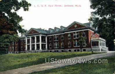 I.O.O.F. New Home - Jackson, Michigan MI Postcard
