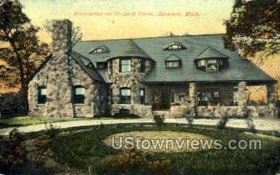 Residence on Probert Farm - Jackson, Michigan MI Postcard