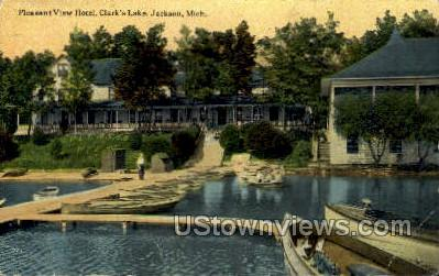 Pleasant View Hotel - Jackson, Michigan MI Postcard