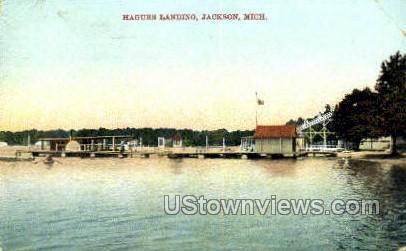 Hagues Landing - Jackson, Michigan MI Postcard