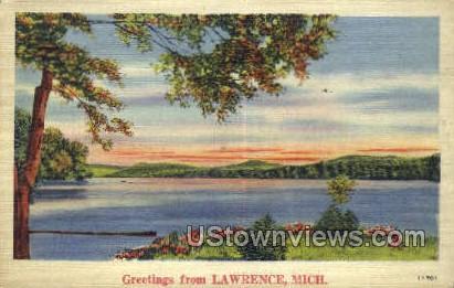 Lawrence, Michigan, MI, Postcard