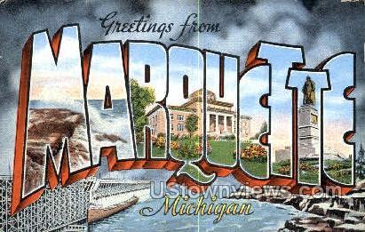 Marquette, Michigan, MI, Postcard