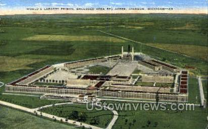 Largest Prison - Jackson, Michigan MI Postcard