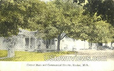 Corner Main Street - Keeler, Michigan MI Postcard