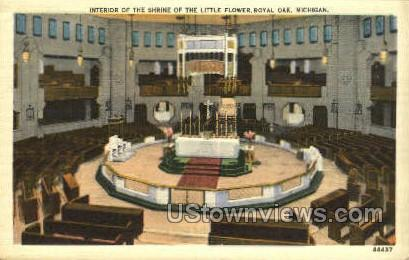 Shrine of the Little Flower - Royal Oak, Michigan MI Postcard