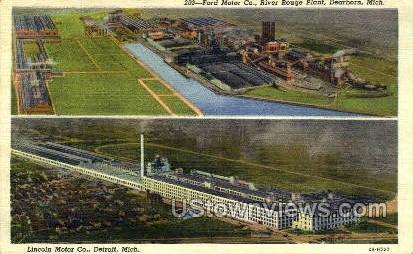 Lincoln Motor Co. - Detroit, Michigan MI Postcard