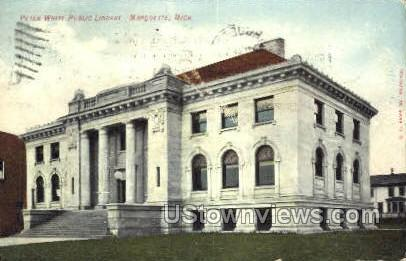 Peter White Public Library - Marquette, Michigan MI Postcard