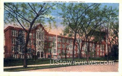 Jackson High School - Michigan MI Postcard