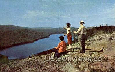 Lake of the Clouds - Porcupine Mountains, Michigan MI Postcard