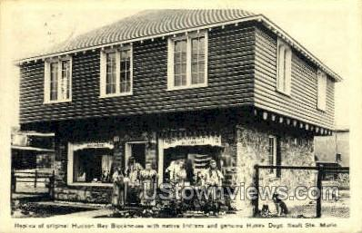 Hudson Bay Blockhouse - Sault Ste Marie, Michigan MI Postcard