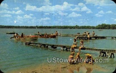 Fisher's Lake - Three Rivers, Michigan MI Postcard