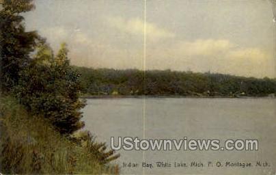 Indian Bay - White Lake, Michigan MI Postcard