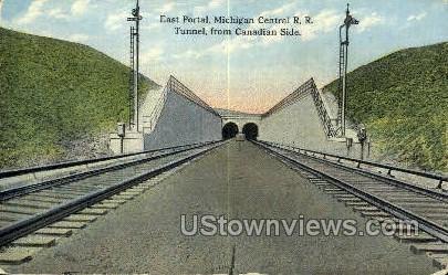 East Portal, Michigan Central R.R. - Detroit Postcard