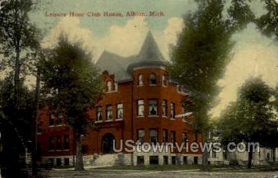 Leisure Hour Club House - Albion, Michigan MI Postcard