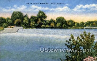 French Paper Mill - Niles, Michigan MI Postcard