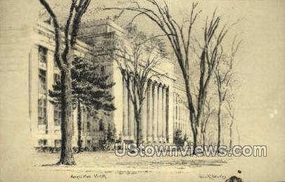 Angill Hall, University of Michigan - Ann Arbor Postcard