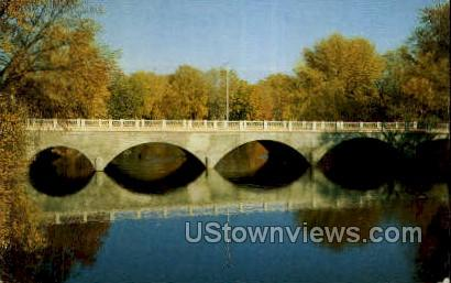 Main Street Bridge - Three Rivers, Michigan MI Postcard