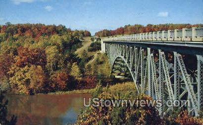Cooley Bridge, M-55 - Cadillac, Michigan MI Postcard