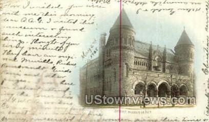 Detroit Museum of Art - Michigan MI Postcard