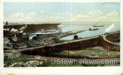 The Harbor - Marquette, Michigan MI Postcard