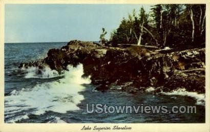 Lake Superior, Michigan, MI, Postcard