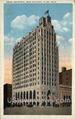 Union Industrial Bank Bldg - Flint, Michigan MI Postcard