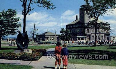 Soo Lock - Sault Ste Marie, Michigan MI Postcard