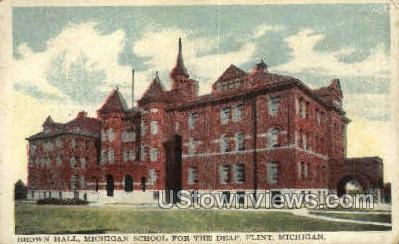 Michigan School for the Deaf - Flint Postcard