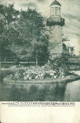 Palmer Park Lighthouse - Detroit, Michigan MI Postcard