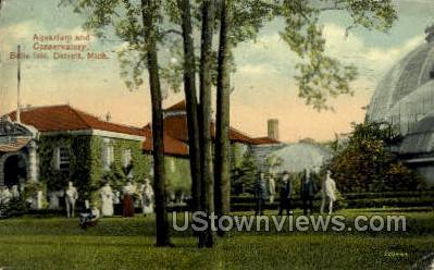 Aquarium & Conservatory, Belle Isle - Detroit, Michigan MI Postcard