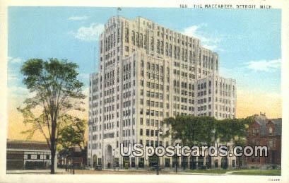 Maccabees - Detroit, Michigan MI Postcard