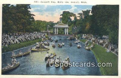 Concert Day, Belle Isle - Detroit, Michigan MI Postcard