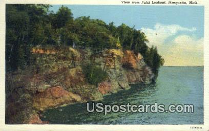 Point Lookout - Marquette, Michigan MI Postcard