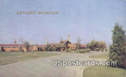 Hidden Valley Lodge - Gaylord, Michigan MI Postcard