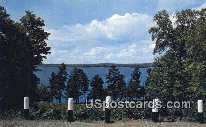 Lake, Trees, & Clouds - Alpena, Michigan MI Postcard