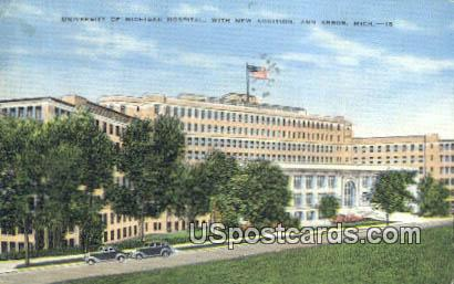 University of Michigan Hospital - Ann Arbor Postcard